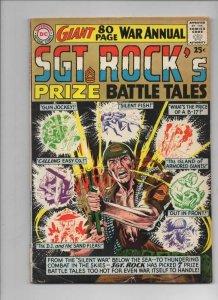 SGT ROCK's Prize Battle Tales #1, VG+, Annual, Joe Kubert, Army DC 1964