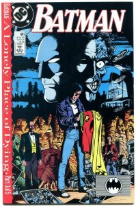 BATMAN #441 1989- George Perez- Two Face- Lonely Place of Dying part 3 NM