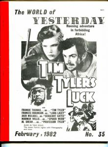 World of Yesterday  #35 2/1982-Tim Tyler's Luck-Frankie Thomas-Jones Family-VG
