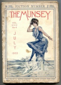 The Munsey Pulp July 1903- Swimsuit cover G/VG