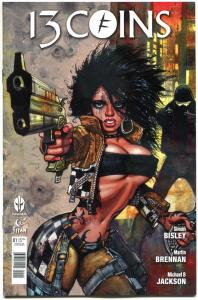 13 COINS #1, NM, Simon Bisley, 2014, Titan, Femme Fatale, more Bisley in store
