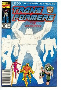 Transformers #73-1990 Late issue-Newsstand-Marvel comics