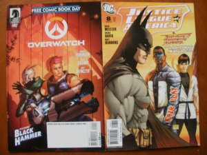 2 Near-Mint Comic: Drk Horse OVERWATCH FCBD & JUSTICE LEAGUE OF AMERICA #8 (2007