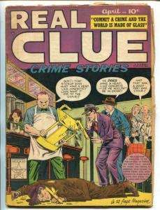 REAL CLUE CRIME STORIES VOL 4 #2 1949-HILLMAN-FIGHT COVER-CRIME-fr/good