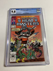 Transformers Headmasters 1 Cgc 9.8 White Pages Marvel 1987