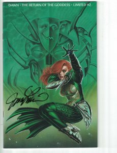 Dawn: The Return of the Goddess #2 VF/NM signed by Joe Linsner - limited to 3500