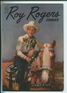 ROY ROGERS FOUR COLOR #124 1946-DELL-EARLY ROY ROGERS ISSUE-PHOTO COVERS-fn/vf