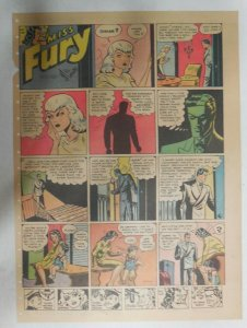 Miss Fury Sunday by Tarpe Mills from 11/26/1944 Size: 11 x 15  Very Rare Year #4