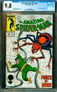 Amazing Spider-Man #296 CGC Graded 9.8 Doctor Octopus appearance.