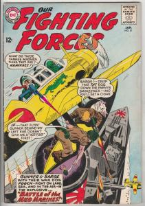 Our Fighting Forces #81 (Jan-64) VG/FN- Mid-Grade Gunner and Sarge, Pooch