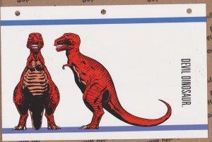 Official Handbook of the Marvel Universe Sheet- Devil Dinosaur