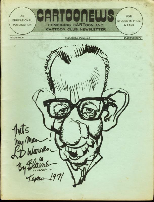 CARTOONEWS #6-1975-POPEYE-JACK DAVIS VG