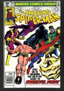 Amazing Spider-Man #214 VF/NM 9.0 Marvel Comics Spiderman
