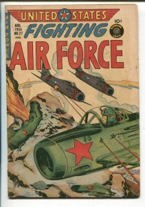 UNITED STATES FIGHTING AIR FORCE #27-1956-ATOM BOMB EXPLOSION PANEL-RARE-vg
