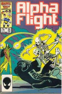 Alpha Flight (1983 series) #35, NM- (Stock photo)