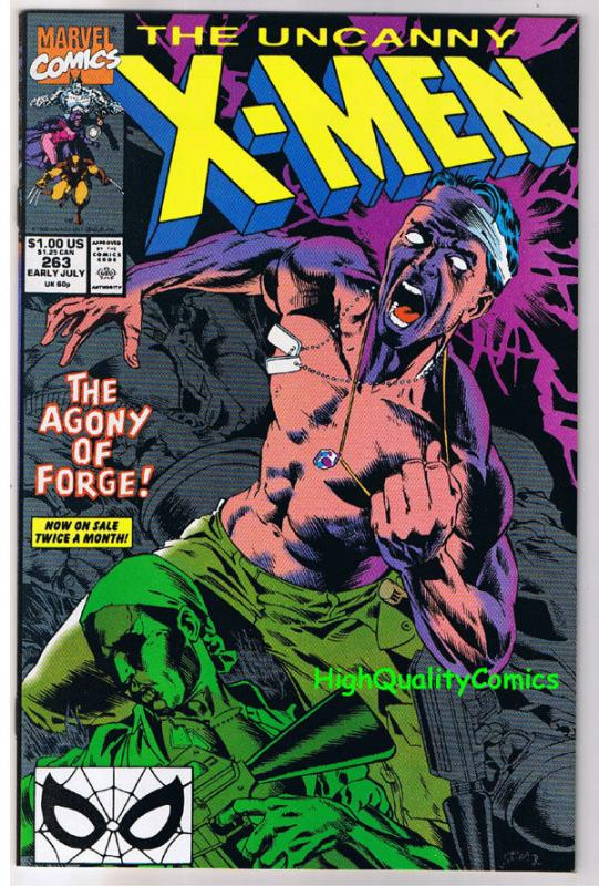 X-MEN #263, VF/NM, Wolverine, Forge, Claremont, Uncanny, more in store