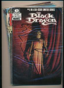 Complete Set! THE BLACK DRAGON 6 issue limited series #1-#6 1985  VF+ (PF50)