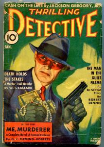 Thrilling Detective January 1939- WT Ballard- Masked Bandit cover G