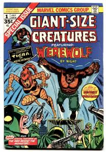 Giant-Size Creatures #1 comic book-first Appearance Of Tigra- FN/VF