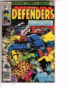 Marvel Comics (1972) The Defenders #63 Hulk Sal Buscema Art