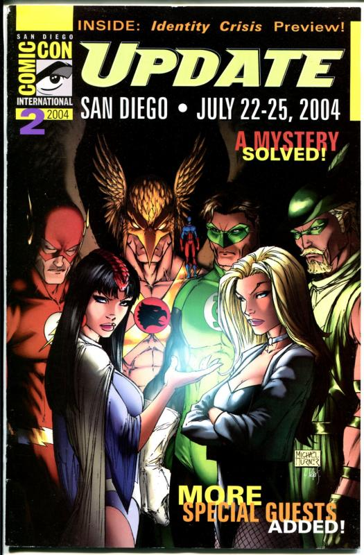San Diego Comic Con Update 2004-Flash-Hawkman-Black Canary-Green Arrow-VG
