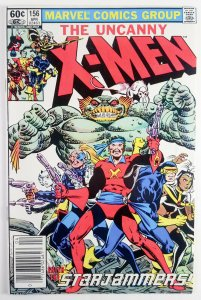 The Uncanny X-Men #156 - Starjammers Appearance - Newsstand - NM - Marvel 1982