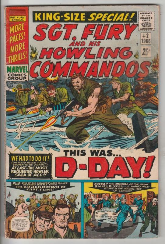 Sgt. Fury and His Howling Commandos King-Size #2 (Aug-66) FN- Mid-Grade Sgt. ...