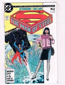 The Man Of Steel #2 FN/VF DC Comics Comic Book Bryne Superman 1986 DE39 AD12