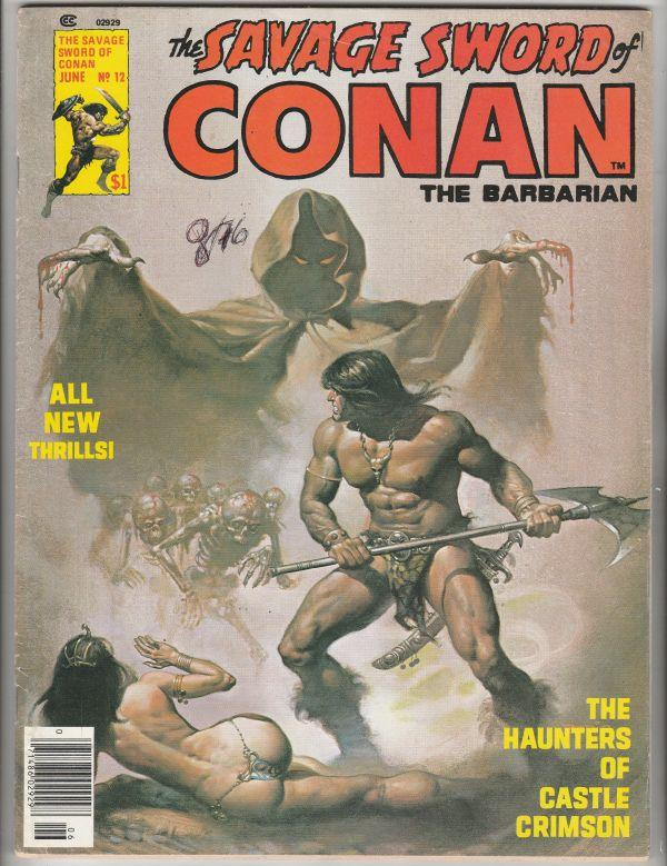 Savage Sword of Conan #12 (Jun-76) VF- High-Grade Conan the Barbarian