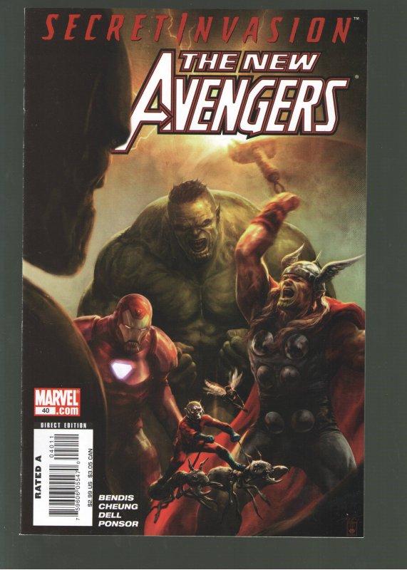 NEW AVENGERS #40(2008) NM;1st APPEARANCE VERNAKE-SKRULL QUEEN! In Cap Marvel 2?