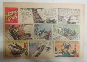 Hopalong Cassidy Sunday Page by Dan Spiegle from 2/15/1953 Size 7.5 x 10 inches