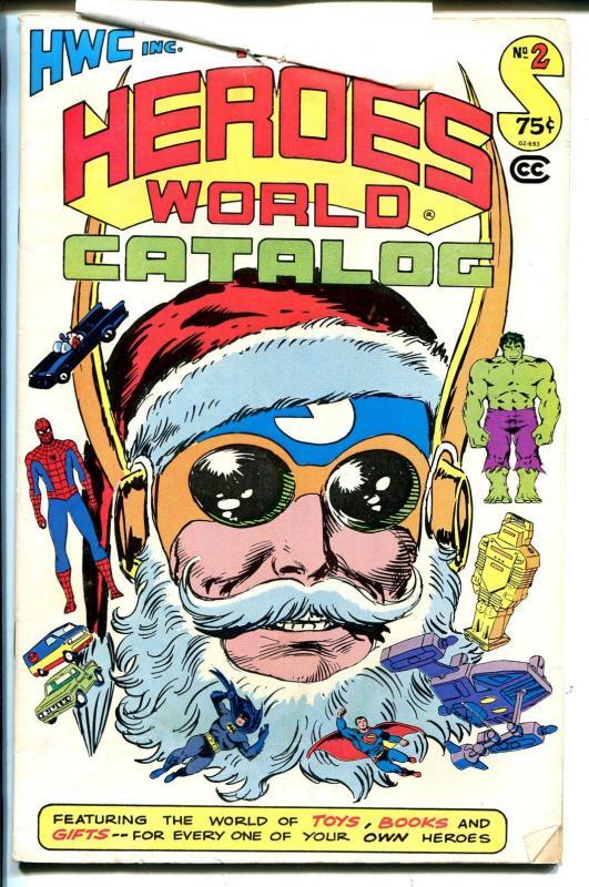 Heroes World Catalog #2 1979-Joe Kubert art cover-superhero memorabilia-VG