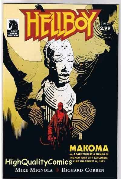 HELLBOY ; MAKOMA #1, Richard Corben, Mike Mignola, NM+, more RC in store