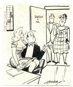 Bill Wenzel Original Humorama Art Joke Gag Illustration