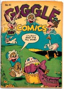GIGGLE COMICS #41(May 1947) 3.5 VG- Dan Gordon Superkatt Cover! Hultgren, Karp!