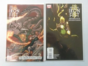 Immortal Iron Fist lot 2 different issues 8.0 VF (2008)