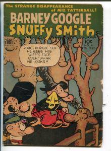 BARNEY GOOGLE + SNUFFY SMITH #4 1952-TOBY-FRED LASWELL-HARVEY KURTZMAN-vg