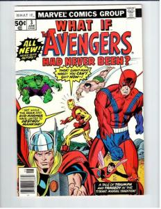 WHAT IF #3, VF, Avengers, Hulk, Thor, Wasp, Iron Man, 1977, Marvel