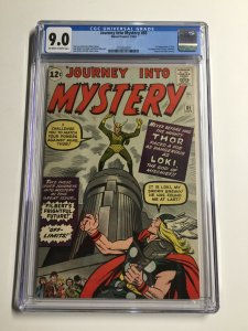 Journey Into Mystery 85 Cgc 9.0 Ow/w Pages Marvel Silver Age 1st Appearance Loki