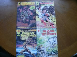 4 Near-Mint Warp ELFQUEST Comic: HIDDEN YEARS #1 #2 & BLOOD OF TEN CHIEFS #1 #4