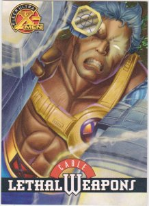 1995 Fleer Ultra X-Men Card Lethal Weapons #3 Cable