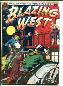 Blazing West #10-BUFFALO BELLE girl cowboy-Golden Age G