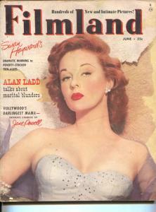 Filmland-Susan Hayward-Errol Flynn-Victor Mature-Ann Sheridan-June-1952