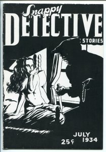 SNAPPY DETECTIVE STORIES-#1-07/1934-TROJAN-1ST ISSUE FACSIMILE REPRINT-PULP-vf