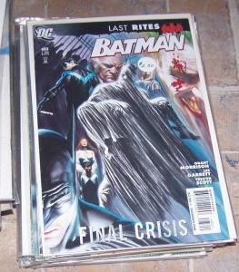 Batman #683 (Jan 2009, DC) final crisis last rites alex ross cover