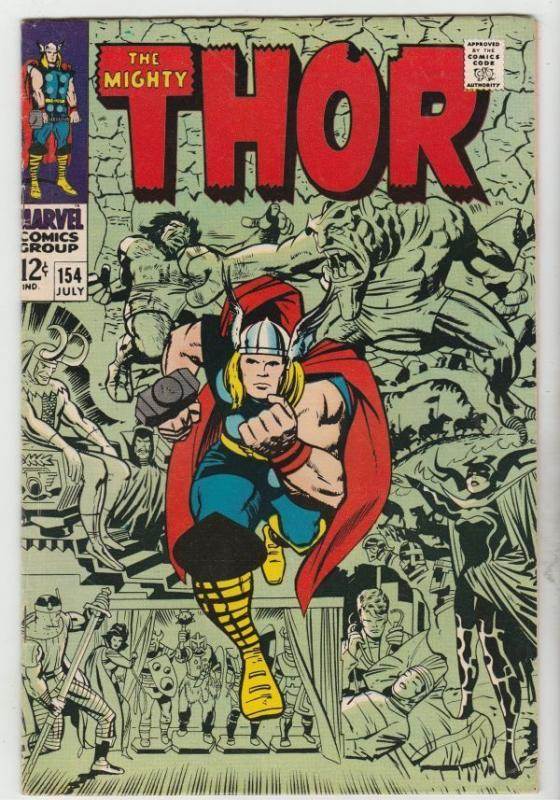 Thor #154 The Mighty strict VF 8.0 High-Grade  Appearance- Mangog  Richmond Crt.