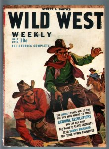 WILD WEST WEEKLY 1/2/1943-WESTERN PULP-TOMMY ROCKFORD FN/VF