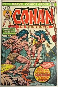 CONAN THE BARBARIAN#58 VF 1976 FIRST FULL APP. BELIT THE PIRATE QUEEN!