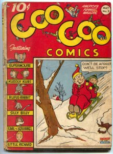Coo Coo #5 1943- Golden Age Funny Animals- Supermouse G