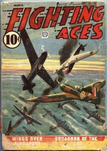 FIGHTING ACES-MAR 1944-DAVID GOODIS-CANADIAN VARIANT-WW II PULP STORIES-POPUL...